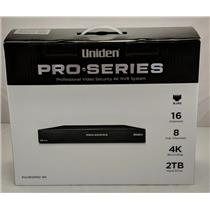 Uniden PRO1600N2-4K Professional Security System 4K NVR 16-Channel 8x PoE w/ 2TB