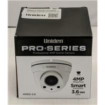 Uniden Professional 4.0-Megapixel IP Tamperproof Fixed Dome Camera 4MED-3.6