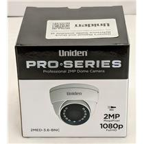 Uniden Professional 2-MP Coax Tamperproof Fixed Eyeball Dome Camera 2MED-3.6-BNC
