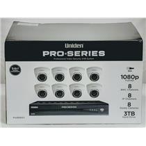 Uniden PRO808X3 XVR Kit 8-Channel 8x BNC 8x IP w/ 3TB + 8x Dome Cameras