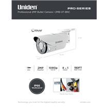 Uniden Pro Series 2.0-Megapixel Coax Tamperproof Bullet Camera 2MB-VF-BNC