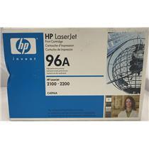 New HP C4096A Black Original Toner 96A LaserJet 2100 2200 Genuine Sealed