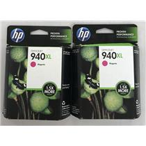 Lot of 2 HP 940XL Magenta ink Cartridge for 8000, 8500, 8500A C4908AN