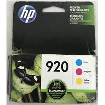 HP 920 Ink Cartridge Cyan, Magenta, Yellow, for OfficeJet N9H55FN