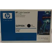 New Open Box HP Color LaserJet 4700 Black Cartridge Q5950A