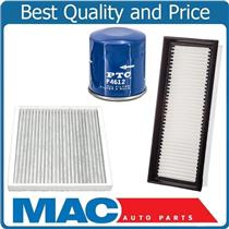 100% New 3pc Kit Oil Air & Cabin Air Filter for 2008-2012 Smart Fortwo 1.0L