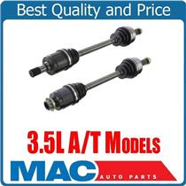 (2) 100% Comp CV Drive Axle Shafts For Automatic Transmission 3.5L 08-12 Accord