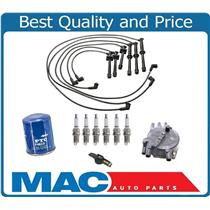100% New Ignition Wires Spark Plugs Rotor & Cap 10pc Kit Mazda 626 2.5L 95-97