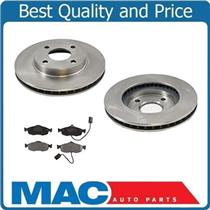 (2) 54012 Front Disc Brake Rotor With MD801 Frt Pads With Sensors