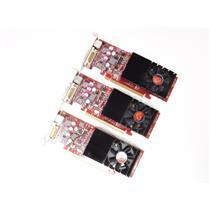 Lot of 3 VisionTek Radeon HD4650 1gb Low Profile Video Card DVI PCI-Express