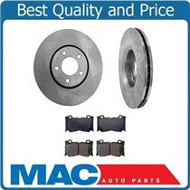 (2) FRONT 330MM Brake Rotors & Pads Will Fit Infiniti G37 31476 CD1287
