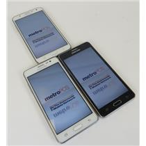 Dealer Lot Of 3 Samsung Android Smartphones Galaxy On5 & Galaxy J7 - Metro PCS