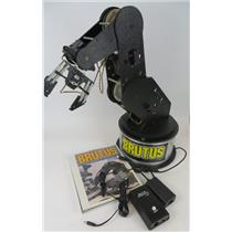 Pitsco Brutus Programmable 6 Axis Robotic Arm W/ Interface Box & Power Supply