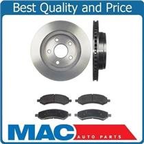 (2) Front Brake Rotors & Pads For 02-14 Ram 1500 Pick Up 5 Stud Ceramic Pads