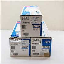 Lot of 3 New Sealed HP LaserJet 4500 4550 Toner Cartridges C4191A C4192A C4194A