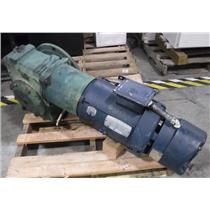 Leeson Electric AC Motor 7.5 HP 230/480 V Stearns Brake And 50:0 Reduction Gear
