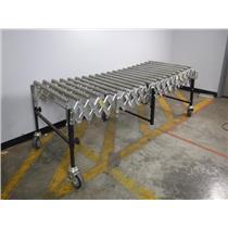 "Best Flex 28"" Wide x 20 Roller Expanding Portable Roller Conveyor up to 75"" Long"