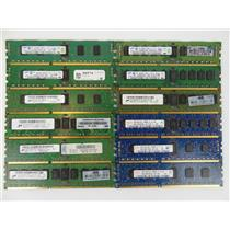 Lot 25 Assorted Brands 2GB PC3-10600R DDR3-1333MHz ECC Server Memory