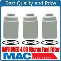 10-16 Silverado GM 6.6L Turbo Diesel IMPROVED 4.00 Micron Fuel Filter (3)
