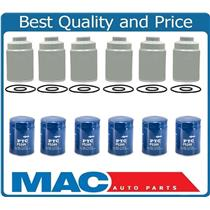 100% New (6) Duramax Diesel Fuel Filters For 01-15 GMC 6.6 + (6) New Oil Filters