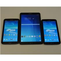 Lot of 3 Samsung Galaxy Tablets 1x SM-T560 Wi-Fi ONLY 2x SM-T217A GOOD AT&T IMEI