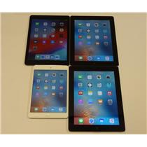 Lot of 4 Apple Tablets 1x iPad Mini 1x iPad Air 1x iPad 2 1x iPad 3rd Gen.