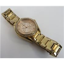 Fossil Riley ES2811 Rose Gold-Tone Dial W/ Gold-Tone Band 10ATM Womens Watch