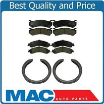 100% New Brake Pads Parking Brake Shoes for Chevrolet Tahoe w 4 Wheel Brake Disc