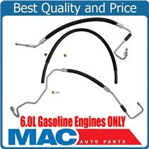 To Gear Pump To Hydro Power Steering Hoses for GMC 2500HD 6.0L Gasoline 11-15