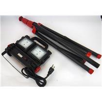 Husky 3200 Lumen Multi Directional LED Work Light W/ 5ft Tripod TESTED & WORKIG