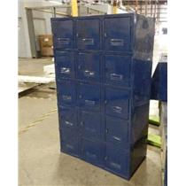 ***LOCAL PICK-UP ONLY*** 15-Compartment Equipment Gym School Locker