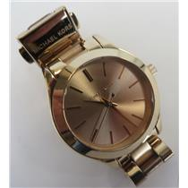 Michael Kors MK-3513 Mini Slim Runway Rose-Gold Tone Dial & Gold Tone Band Watch