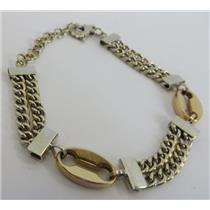 18k Yellow Gold Chain Bracelet Stamped Primavera Italy 750 - 14.94g Total Weight