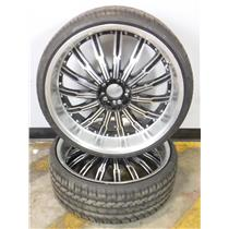 Pair (2) Lexani LX-TWENTY M+S 235/30ZR22 90W XL All Season Tires with Rims