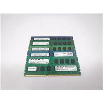Lot of 6 Mixed Brands 4GB PC3 Unregistered U DDR3  Desktop Computer RAM Memory
