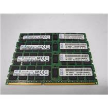 Lot of 4 16GB Samsung PC3-14900R DDR3 Registered Server Memory Computer RAM