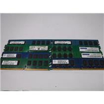 Lot of 8 Mixed Brand 2GB PC2-6400U Unregistered DDR2 Desktop Computer RAM Memory