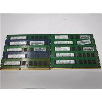 Lot of 10 2GB Mixed Brand PC3-10600E DDR3 ECC Server Memory Computer RAM