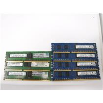 Lot of 7 2GB Mix Brand and Speed PC3 Registered DDR3 Server Memory Computer RAM