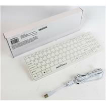 NEW IN BOX SealShield SSKSV099 Dishwasher Safe Medical Grade Waterproof Keyboard