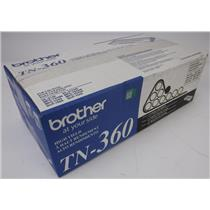 NEW NIB Genuine OEM Brother TN-360 Black Toner Cartridge