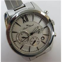 Lucien Piccard 12356 Mulhacen Silver-Tone Stainless Steel Chronograph Watch
