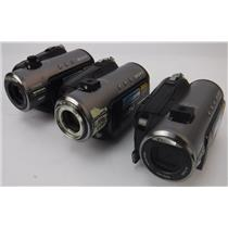 Lot of 3 Sony HDR-HC3 Handycam Mini HD/DV 1080i Video Camcorder TESTED & WORKING