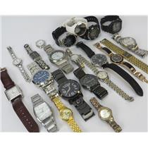 Lot Of 21 Assorted Brands Mixed Watches Mens Women Kids - Working & Non Working