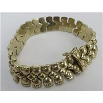 14k Yellow Gold 7 Inch Link Bracelet - Stamped F14k - 19.08g Total Weight