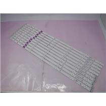 SAMSUNG D3GE-550SMA-R1 D3GE-550SMB-R0 LED STRIPS For UN55J6200AF 10 Strips