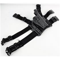Blackhawk C1378 Sig 220 228 229 Drop Leg Gun Holster C1370 Base C1319 RH Right