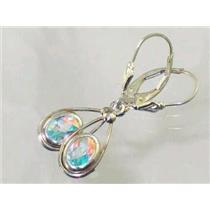 SE008, Mercury Mist Topaz, 925 Sterling Silver Earrings