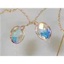 E105, Mercury Mist Topaz, 14k Gold Threader Earrings