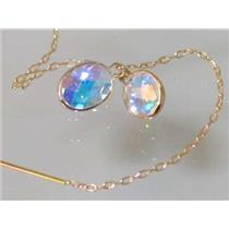 E005, Mercury Mist Topaz, 14kGold Threader Earrings